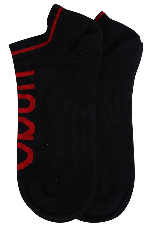 HUGO BODYWEAR LOGO ANKLE SOCK BLACK - giancarloricci