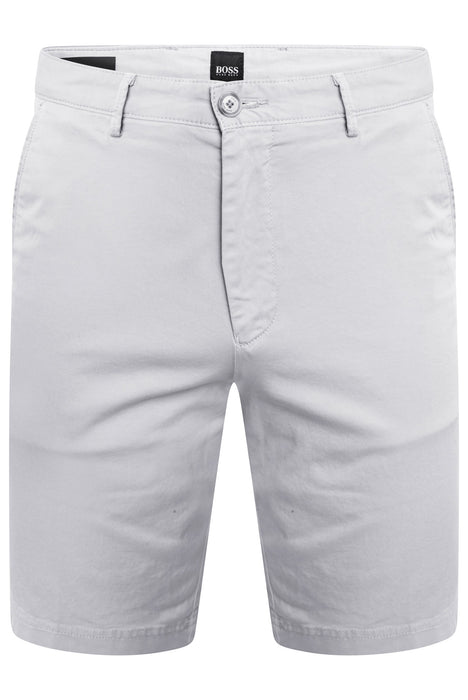 BOSS SMART CASUAL STRETCH CHINO SHORT GREY - giancarloricci