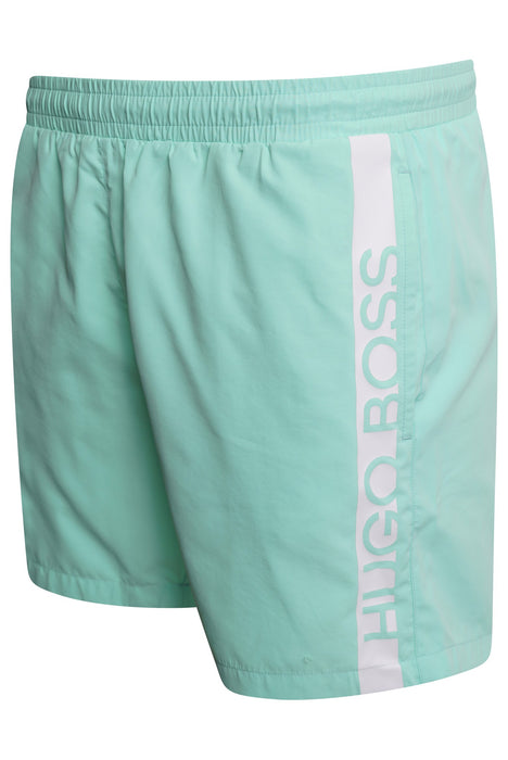 BOSS BODYWEAR BAR LOGO SWIMMER GREEN - giancarloricci