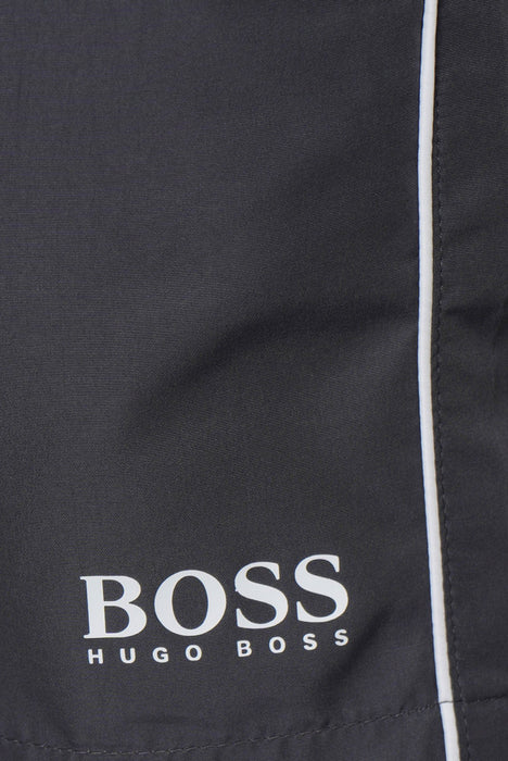BOSS BODYWEAR HEM LOGO SWIMMER GREY - giancarloricci