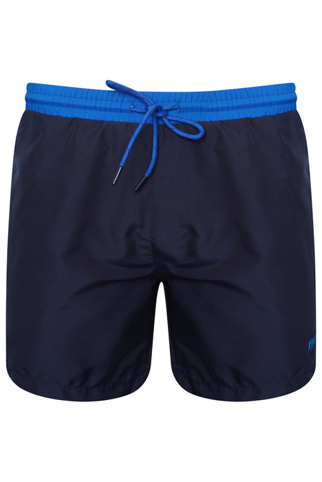 BOSS BODYWEAR HEM LOGO SWIMMER BLUE - giancarloricci