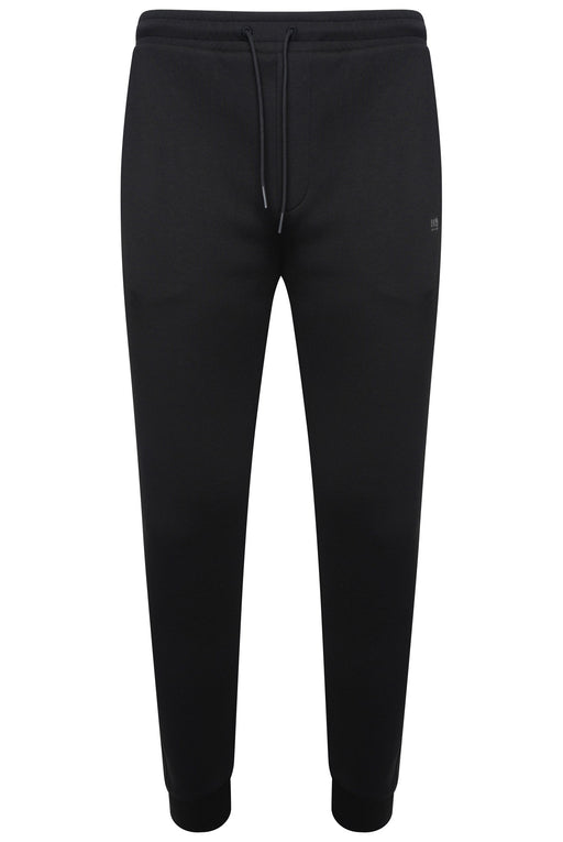 BOSS ATHLEISURE RUBBER LOGO CUFF JOGGER BLACK