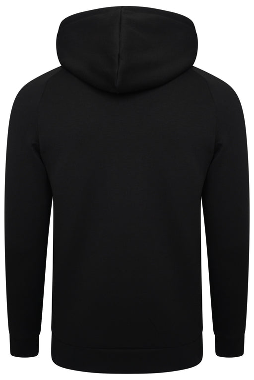 BOSS ATHLEISURE RUBBER LOGO ZIPPER HOODIE BLACK