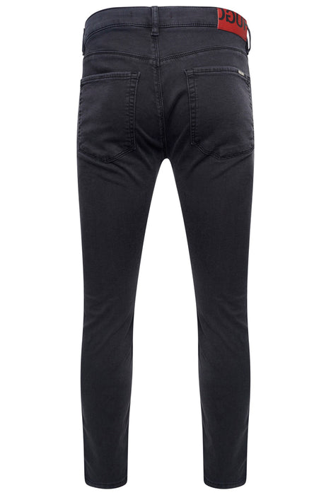 HUGO SKINNY FIT WASHED BLACK JERSEY JEAN BLACK - giancarloricci