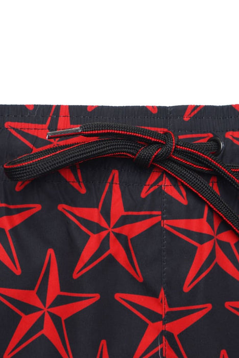 HUGO BODYWEAR STAR PRINT SWIMMER RED - giancarloricci