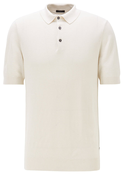 BOSS SMART CASUAL SILK WAFFLE POLO BEIGE - giancarloricci