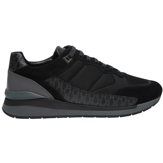 BOSS QUILTED NYLON RUNNER BLACK - giancarloricci
