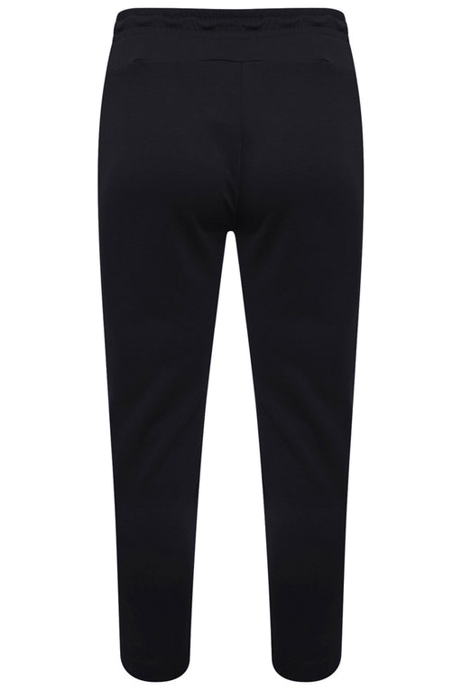 BOSS ATHLEISURE CIRCLE LOGO TAPERED TRACK PANT BLACK - giancarloricci