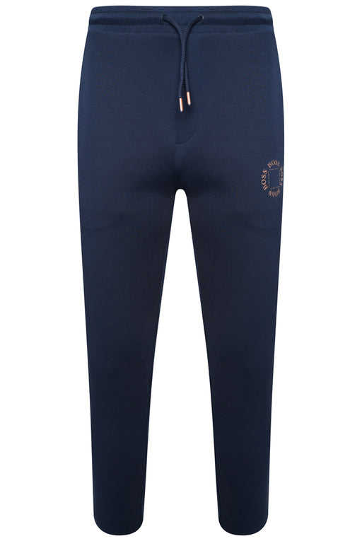 BOSS ATHLEISURE CIRCLE LOGO TAPERED TRACK PANT BLUE - giancarloricci