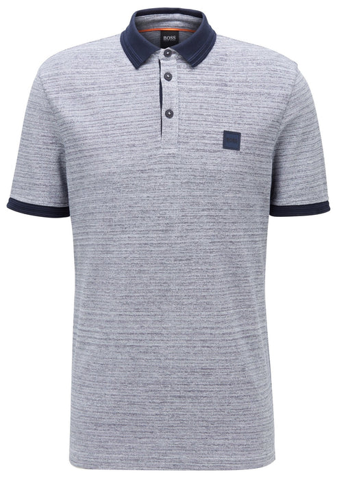 BOSS CASUAL MARL PIQUE POLO BLUE - giancarloricci