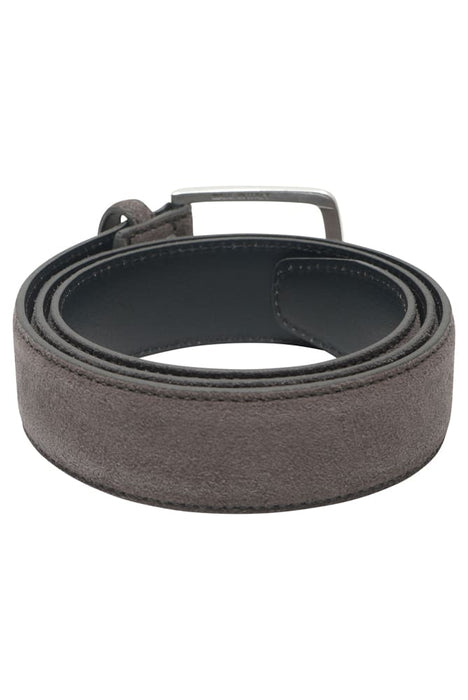 BOSS SUEDE BELT GREY - giancarloricci