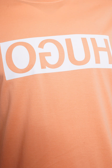 HUGO BOX LOGO TEE ORANGE - giancarloricci