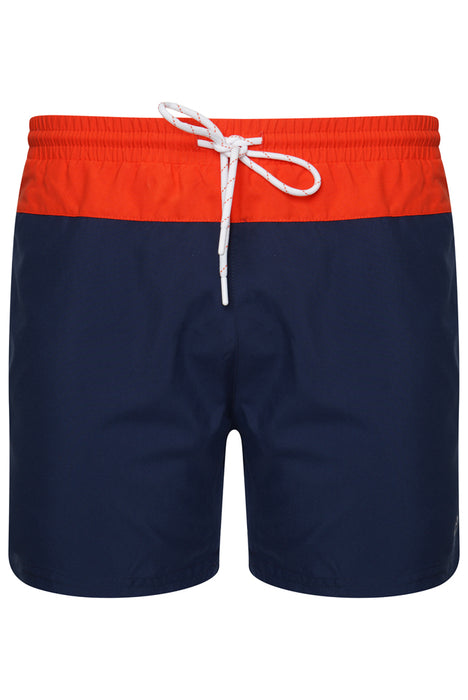 BOSS BODYWEAR BEACH SET NAVY/ORANGE - giancarloricci