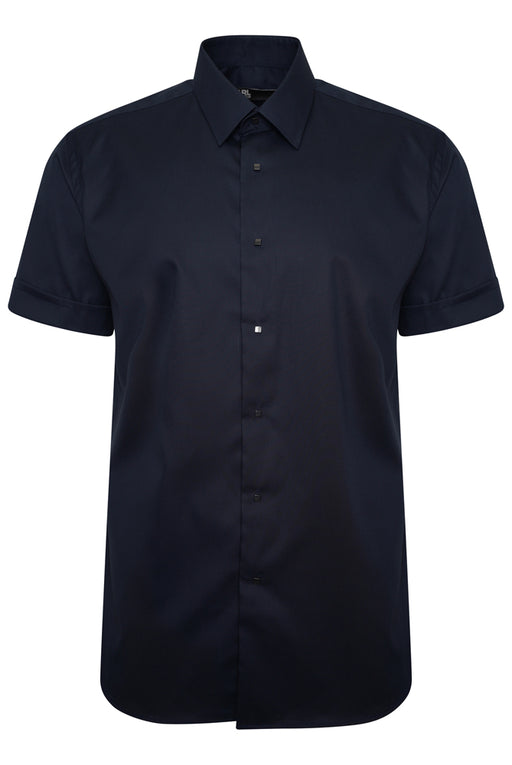 KARL LAGERFELD SNAP BUTTON SHIRT BLUE - giancarloricci