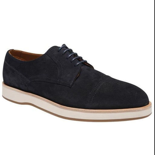 BOSS SUEDE LACE UP DERBY BLUE - giancarloricci