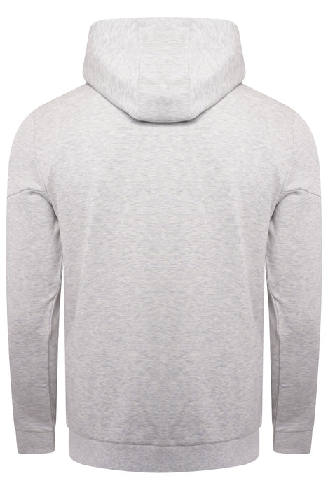 BOSS ATHLEISURE CONTRAST TRIM LOGO ZIPPER HOODIE GREY - giancarloricci
