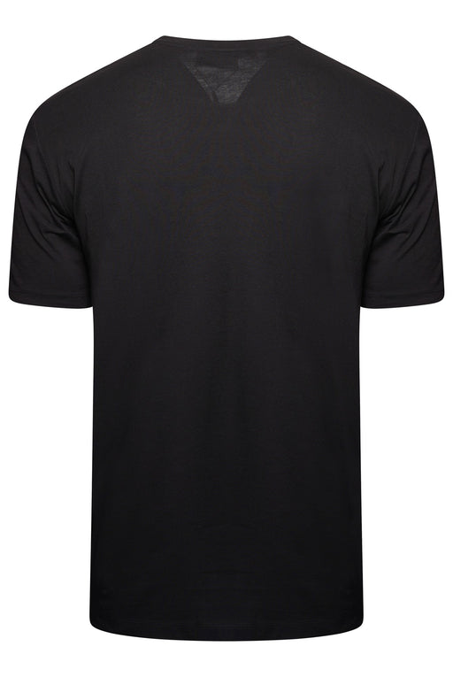 HUGO LOGO STRIPE SHOULDER TEE BLACK - giancarloricci
