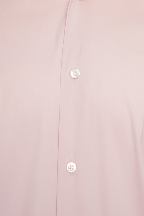BOSS SLIM FIT STRETCH TRAVEL SHIRT PINK