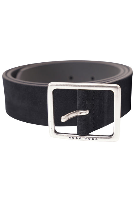 BOSS LOGO BUCKLE SUEDE BELT BLUE - giancarloricci