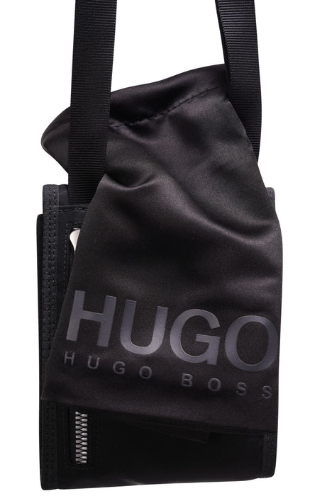 HUGO LOGO STRIPE STASH BAG BLACK - giancarloricci