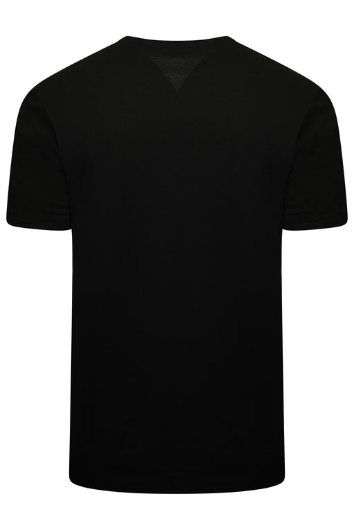 HUGO UNDERLINED LOGO TEE BLACK - giancarloricci