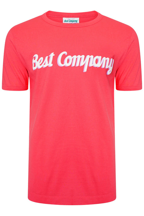 BEST COMPANY PUFF LOGO TEE RED - giancarloricci