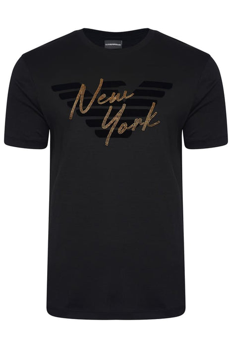 EMPORIO ARMANI REGULAR FIT CITY EAGLE TEE BLACK - Giancarlo Ricci
