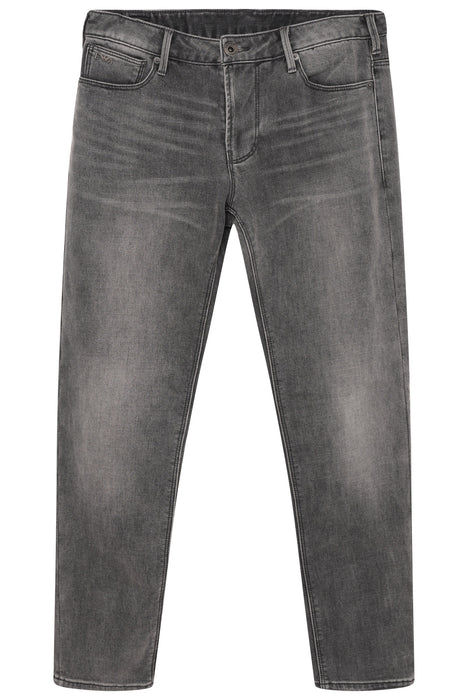 EMPORIO ARMANI SLIM FIT WASHED GREY DENIM JEAN GREY