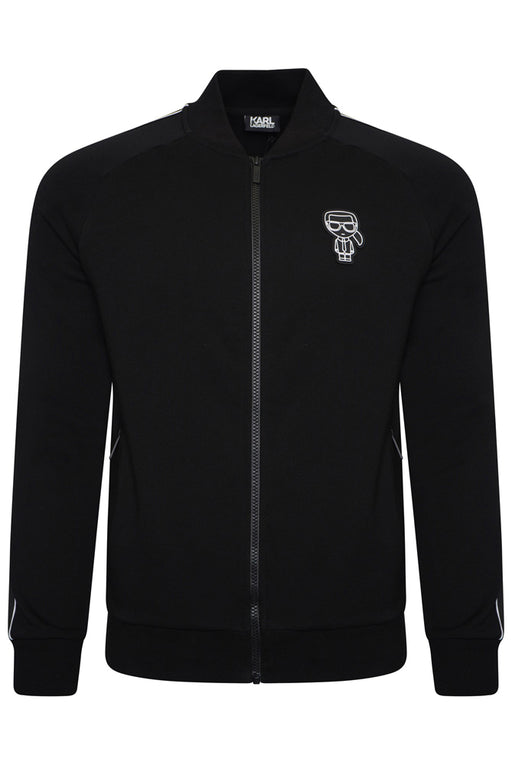KARL LAGERFELD MINI KARL TAPE SLEEVE BOMBER BLACK - giancarloricci