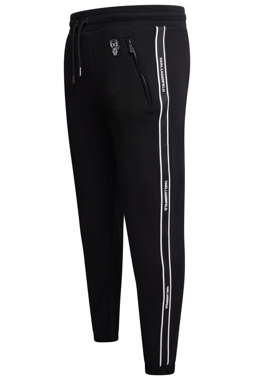 KARL LAGERFELD MINI KARL TAPE LEG JOGGER BLACK - giancarloricci