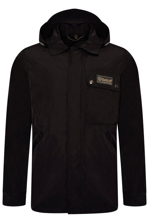 BELSTAFF WEEKENDER REMOVEABLE HOOD NYLON JACKET BLACK