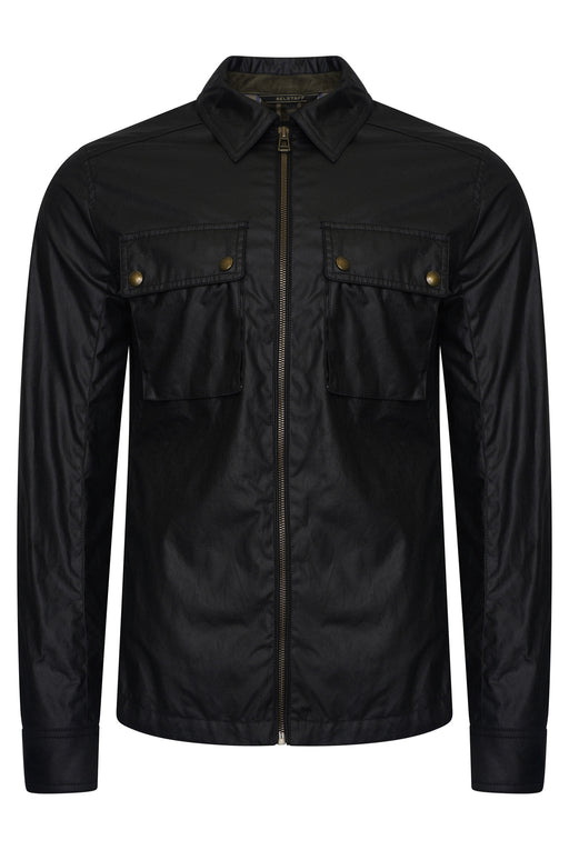 BELSTAFF DUNSTALL WAXED PATCH POCKET OVERSHIRT BLACK