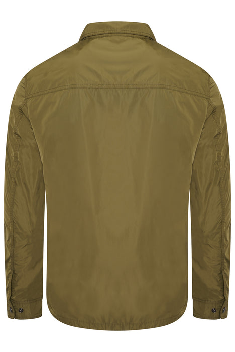BELSTAFF COMMAND PATCH POCKET NYLON OVERSHIRT GREEN