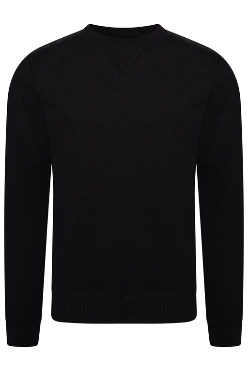 BELSTAFF NYLON PATCH CREW SWEAT BLACK