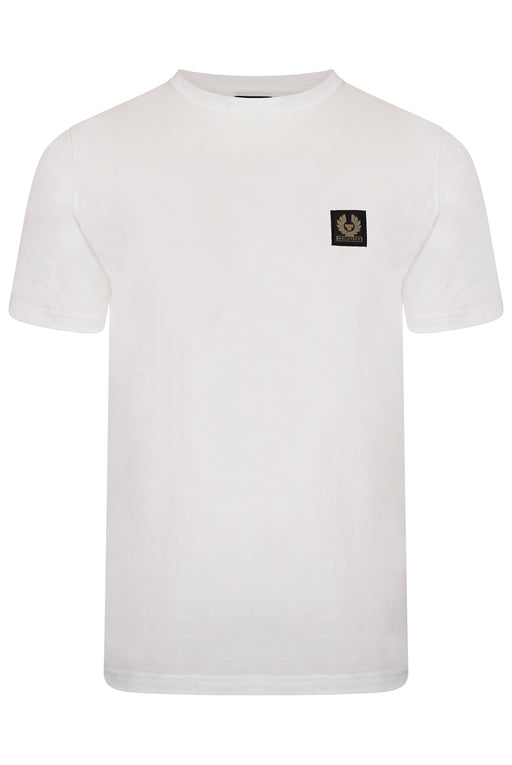 BELSTAFF PATCH LOGO MERCERISED TEE WHITE