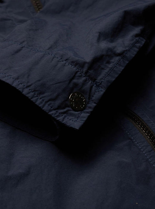 STONE ISLAND PATCH POCKET ZIPPER OVERSHIRT BLUE - giancarloricci