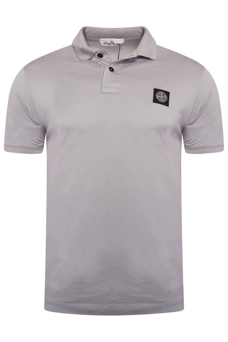 STONE ISLAND COMPASS BADGE JERSEY POLO GREY - giancarloricci