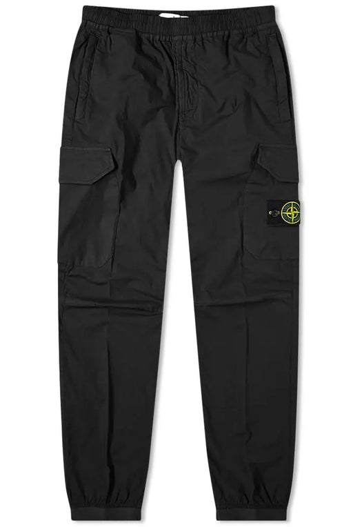STONE ISLAND BADGE POCKET CUFF COMBAT BLACK - giancarloricci