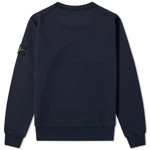 STONE ISLAND GARMENT DYED COTTON FLEECE SWEATSHIRT BLUE - giancarloricci