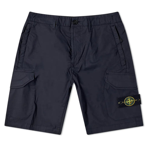 STONE ISLAND ZIPPER POCKET CARGO SHORT BLUE - giancarloricci