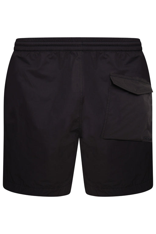 MAHARISHI PRINT LEG POLY COTTON SWIMMER BLACK - giancarloricci