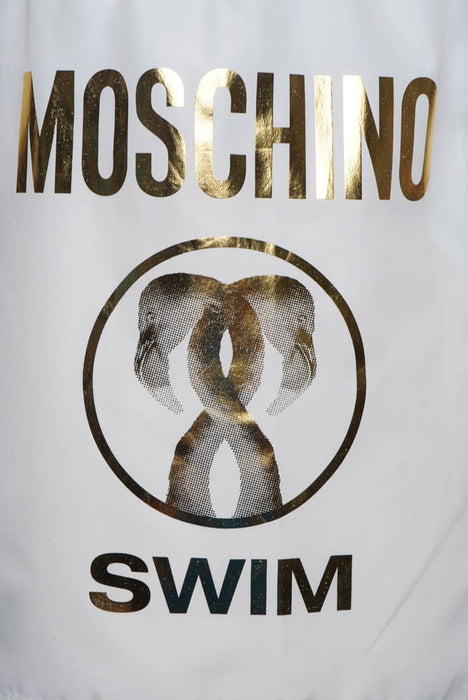MOSCHINO FLAMINGO FOIL SWIMMER WHITE - giancarloricci