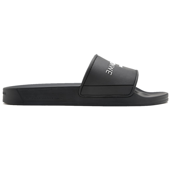 ANDROID HOMME EMBOSSED LOGO SLIDE BLACK - giancarloricci