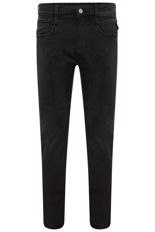 REPLAY ANBASS SLIM FIT HYPERFLEX CLOUD JEAN BLACK