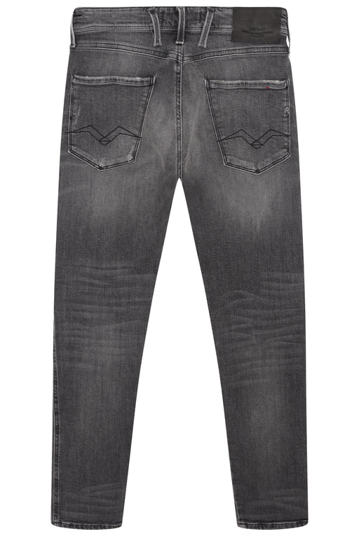 REPLAY ANBASS SLIM FIT RIP & REPAIR JEAN GREY