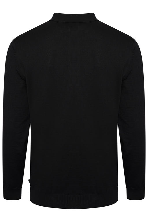 BOSS SMART CASUAL CLASSIC MERINO POLO BLACK