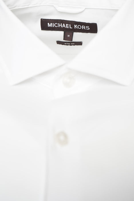 MICHAEL KORS STRETCH SLIM FIT SHIRT WHITE - giancarloricci