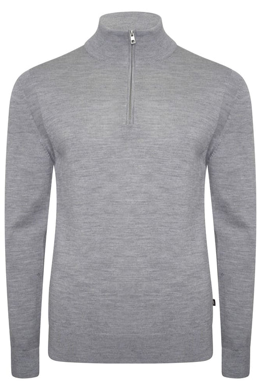 MICHAEL KORS MERINO HALF ZIP KNIT GREY - giancarloricci