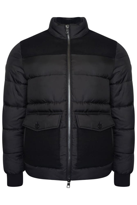 MICHAEL KORS RIBBED COLLAR DOWN JACKET BLACK - giancarloricci