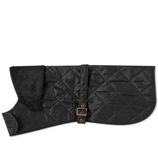 BARBOUR QUILTED DOG COAT BLACK